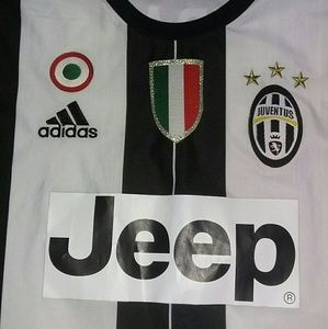 adidas Shirts - Authentic 2017 Juventus Jeep Soccer Jersey